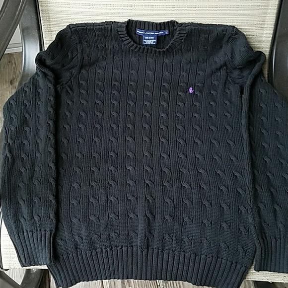 Ralph Lauren Sweaters Sport Black Cableknit Sweater Poshmark